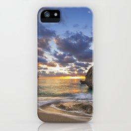 Kalamitsi beach at sunset long exposure iPhone Case
