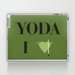 I heart Yoda Laptop & iPad Skin