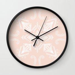 Blush White Mandala Wall Clock