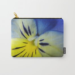 Flower Blue Yellow Carry-All Pouch