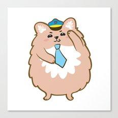 Animal Police - Pomeranian Canvas Print
