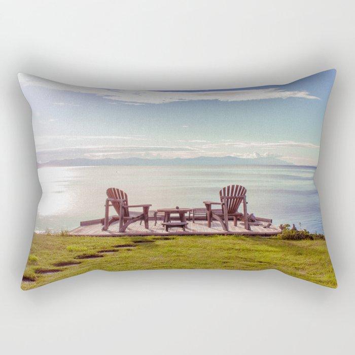 Open Chairs Rectangular Pillow