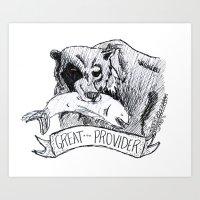 Great Provider Bear Art Print