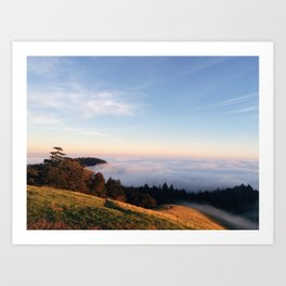 Fog Rolling in over the Mountain Art Print