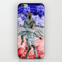 ronaldo iPhone & iPod Skins featuring Ronaldo & Ramos by Cr7izbest