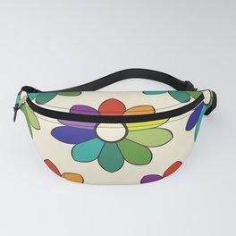 Flower pattern based on James Ward's Chromatic Circle (enhanced) Fanny Pack