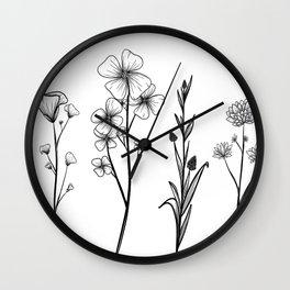 Stemmed Weeds Wall Clock