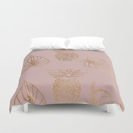 Gold Tropical Duvet Cover