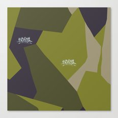 Swedish Camo Graffiti Canvas Print