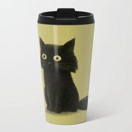 Sitting Cat Metal Travel Mug