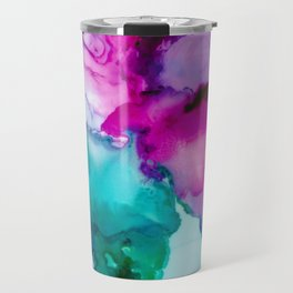 Fairytale Abstract, Alcohol Ink Abstract Painting, Colorful Abst Travel Mug