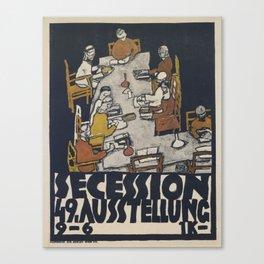 Egon Schiele - Secession 49. Exhibition Canvas Print