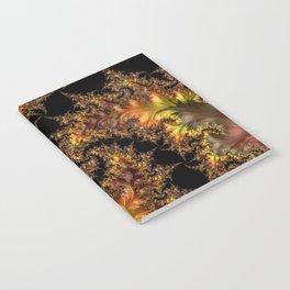 Autumn Leaves yellow brown orange Fractal Notebook