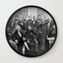 Our Presidents 1789 - 1881 Wall Clock