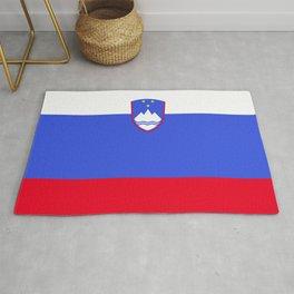 Slovenia flag emblem Rug