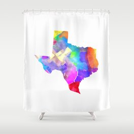 Texas Watercolor Shower Curtain