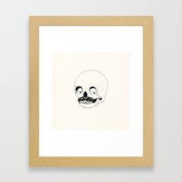 Moustatche Skull Framed Art Print