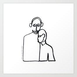 Line Lovers Art Print