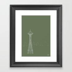 Seattle by Friztin Framed Art Print