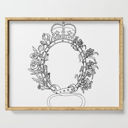 Celtic Belt With Rose and Thistle Drawing Serving Tray
