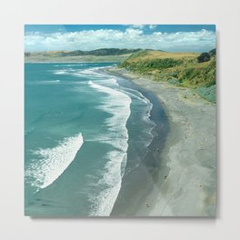 Raglan beach, New Zealand Metal Print