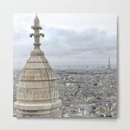 On Top: Sacré-Cœur to the Eiffel Tower Metal Print