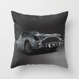 Aston Martin DB5 Digital Painting   Automotive   Cars Throw Pillow