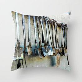 Shovels Throw Pillow