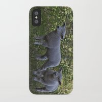 silence of the lambs iPhone & iPod Cases featuring Little Lambs by Dawn OConnor