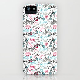 Traditional Medley Design - Boys iPhone Case