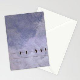 Hazy Birds on a Wire Stationery Cards