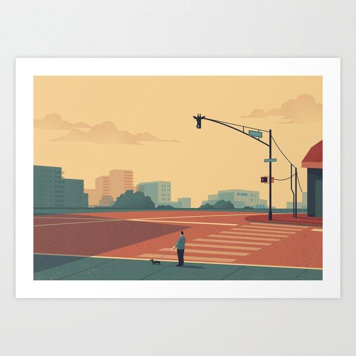 Urban Wildlife - Giraffe Kunstdrucke