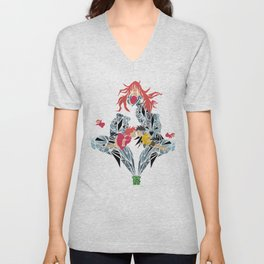 ponyo on the cliff by the sea Unisex V-Neck