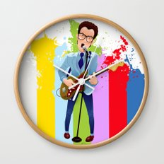 Elvis (Costello) Lives! Wall Clock