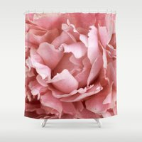 peony Shower Curtains featuring Peony by Cindi Ressler Photography