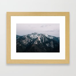 Mountains in Sequioa Framed Art Print