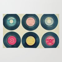 vinyl Area & Throw Rugs featuring Vinyl Collection by Cassia Beck