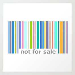 Not For Sale Barcode - Colorful Art Print