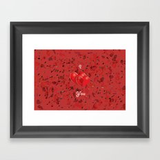 I Love You! Framed Art Print