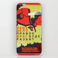 pacific rim iPhone & iPod Skins featuring Pacific Rim: Cherno Alpha Propaganda by MNM Studios