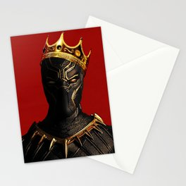 Black Panther King Wakanda Forever T'Challa Shirt Stationery Cards