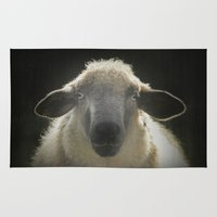 sheep Area & Throw Rugs featuring Sheep by Monika Strigel