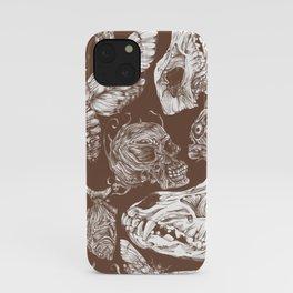 Bones in Brown iPhone Case