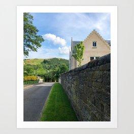 Stone Wall in Edinburgh Art Print