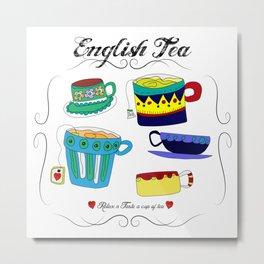 English Tea Cups Metal Print