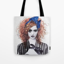 Miss Emma & Her Bunny Tote Bag