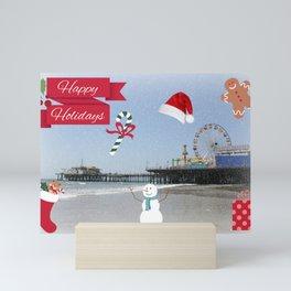 Happy Holidays from Santa Monica Pier Mini Art Print