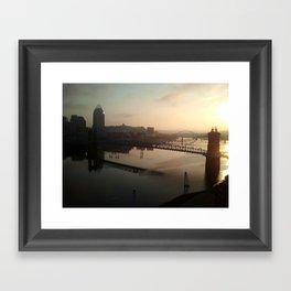 cincinnati sunrise Framed Art Print