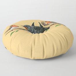 Cock Robin (Colour) Floor Pillow