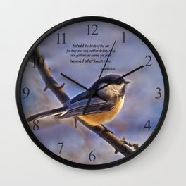Behold the Birds Chick-a-dee Wall Clock